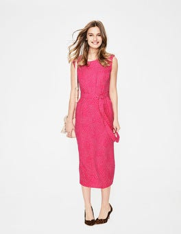 Carnival Pink Scattered Spot Camille Midi Dress