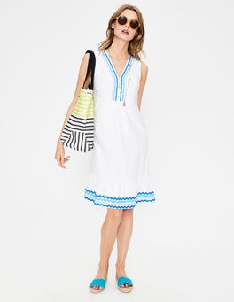 White Easy Rickrack Dress