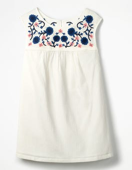 Ivory Portia Embroidered Top