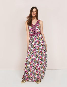 Shocking Pink Wild Bloom Geo Loretta Maxi Dress
