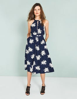 Navy Wild Bloom Mono Agnes Dress