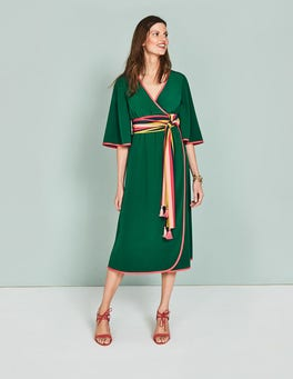 Sap Green Cornelia Wrap Dress
