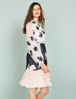 Pearl Wild Bloom Mono Jemima Ruffle Dress