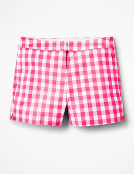 Bright Pink Gingham Richmond Shorts