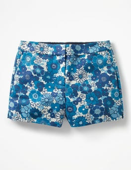 Blues, Swinging Floral Swim Richmond Shorts