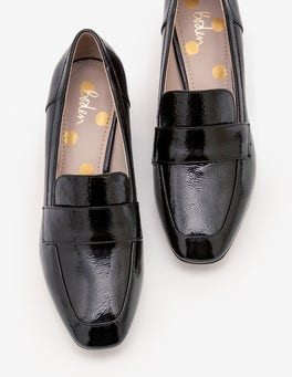 Black Alicia Heeled Loafers