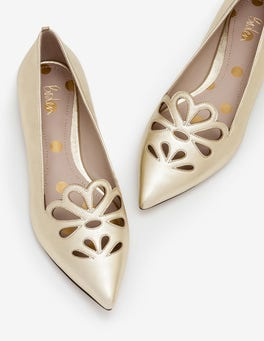 Gold Metallic Eloise Flats