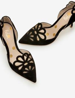 Black Eloise Mid Heels