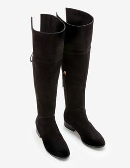Black Bray Over the Knee Boots