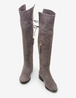 Pewter Bray Over the Knee Boots