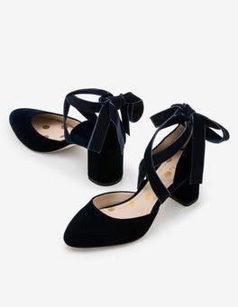 Navy Phoebe Mid Heels
