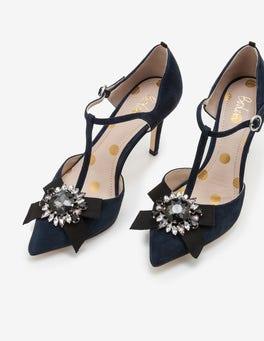 Navy Cordelia Heels