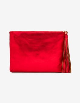 Red Metallic Ottilie Clutch