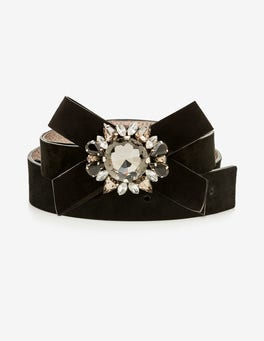 Black Cordelia Embellished Belt
