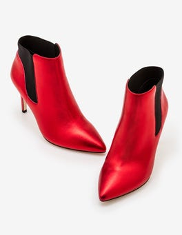 Red Metallic Astell Heeled Boots