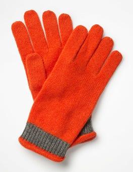 Gladioli/Charcoal Melange Cashmere Gloves