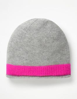 Grey Melange/Pop Pansy Cashmere Hat
