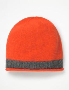 Gladioli/ Charcoal Melange Cashmere Hat
