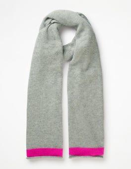 Grey Melange/Pop Pansy Cashmere Scarf