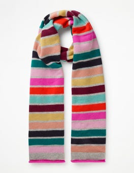 Multi Stripe  Cashmere Scarf