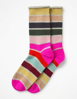 Multi Stripe  Striped Cashmere Socks