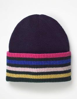 Navy Stripe Detail Hat