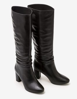 Black Albemarle Heeled Boots