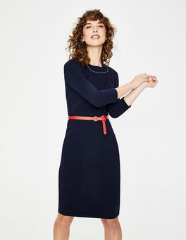 Navy Mia Ottoman Dress