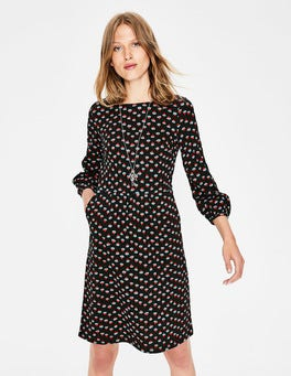Black Dandelion Bud Odelia Jersey Dress