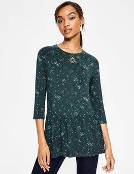 Algengrün, Gruppierte Tupfen Katrina Jersey-Shirt