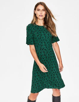 Amazon Green Enchanted Vine Alexis Jersey Dress