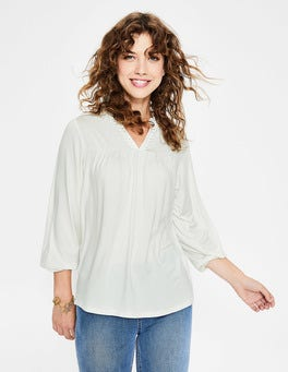 Ivory Bea Jersey Top