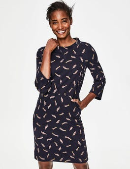 Whale Grey Shooting Star Livia Sweatshirt Dress