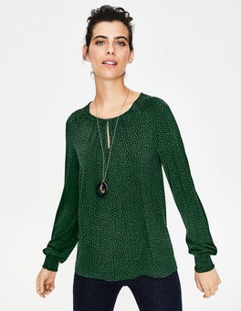Amazon Green Petal Vicky Jersey Top