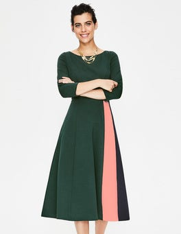 Chatsworth Green Claudia Ponte Midi Dress