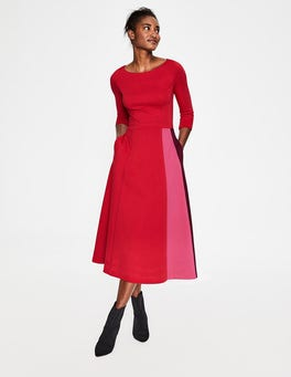 Poinsettia Claudia Ponte Midi Dress