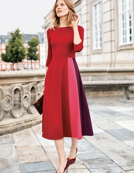 Robe midi Claudia en point de Rome