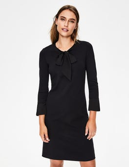 Black Josie Ponte Dress