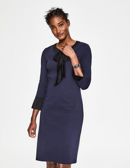 Navy Josie Ponte Dress