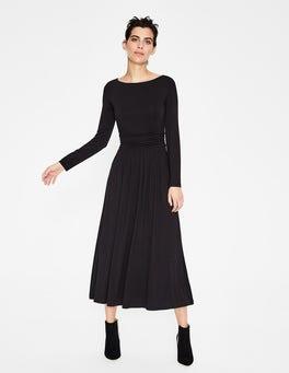 Black Lucille Jersey Midi Dress