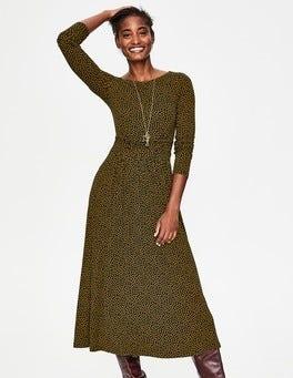 Navy/Trumpet Petal Lucille Jersey Midi Dress