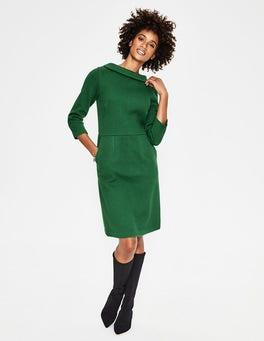 Amazon Green Estella Jacquard Dress