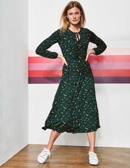Flora Jersey Midi Dress
