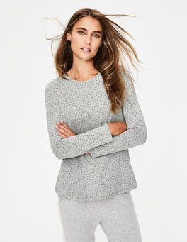 Grey Marl Glitter Spot Sabrina Swing Top