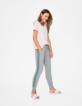Grey Marl Multi Side Stripe Joggers