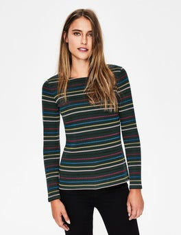 Green/Multi Sparkle Long Sleeve Sparkle Breton