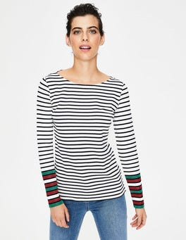 Long Sleeve Sparkle Breton