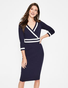 Navy Nellie Ponte Dress