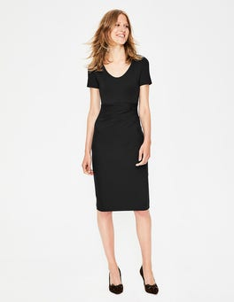 Black Madison Ponte Dress