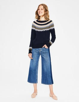 Navy Agnes Fair Isle Jumper